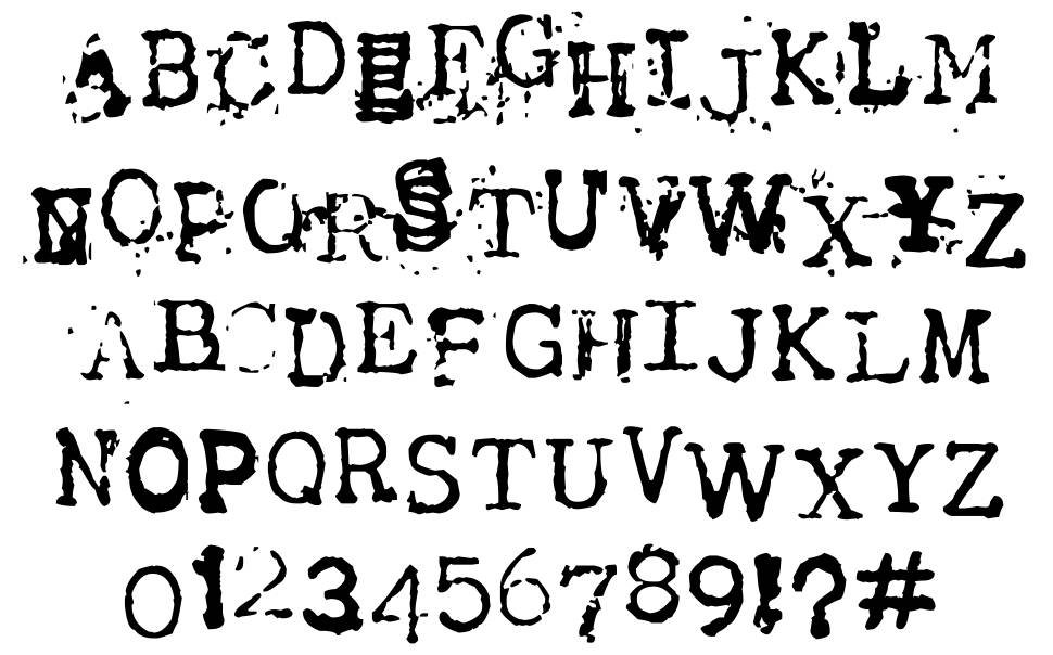 Tract font