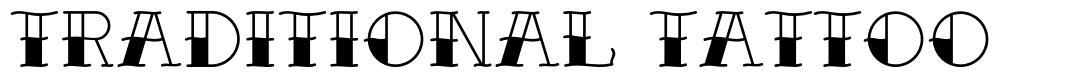 Traditional Tattoo font