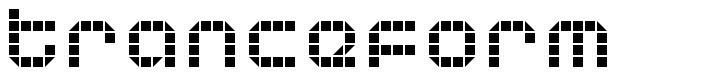 Tranceform font
