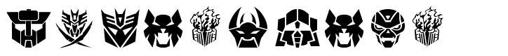 Transdings шрифт