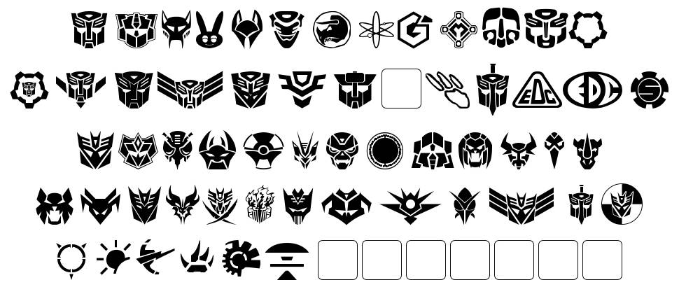 Transdings font