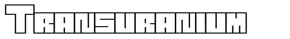 Transuranium font