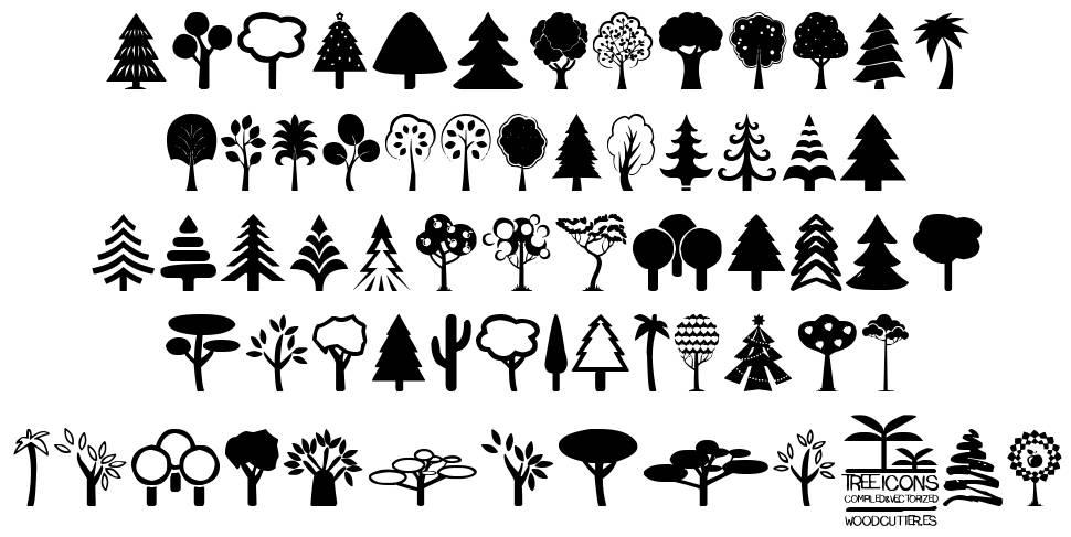 Tree Icons font