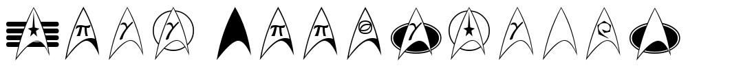 Trek Arrowheads फॉन्ट