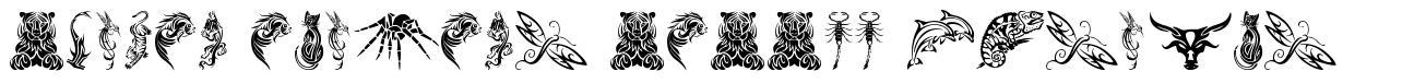 Tribal Animals Tattoo Designs font