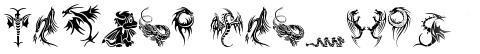 Tribal Dragons Tattoo Designs