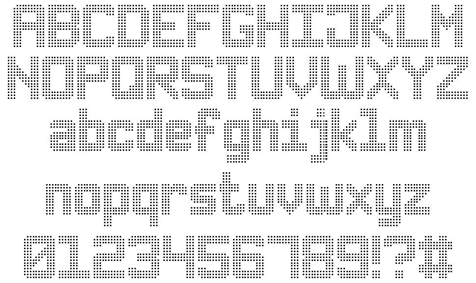 Triple Dot Digital-7 font