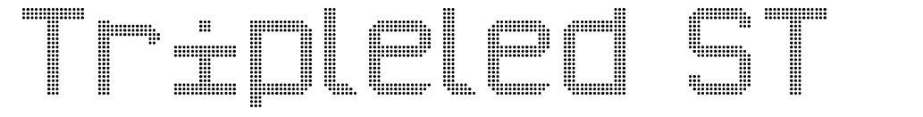 Tripleled ST font