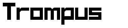 Trompus font