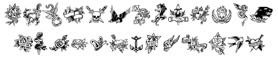 True Man Tattoos font