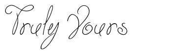 Truly Yours font