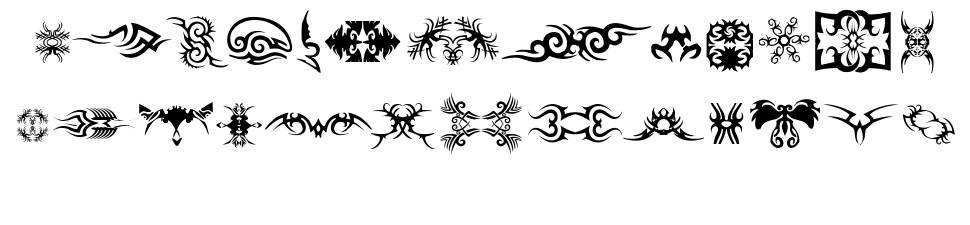 TTF Tattoef font