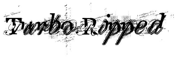 Turbo Ripped font
