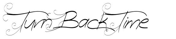 Turn Back Time font