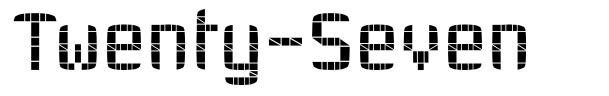 Twenty-Seven font