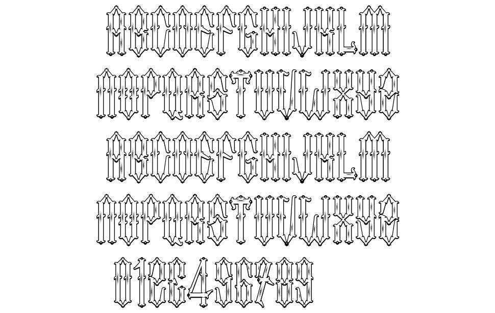 Two Fingers King font