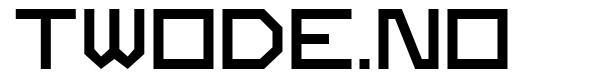 Twode.no font