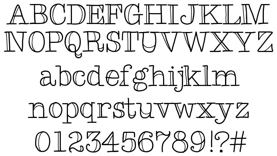 Type Me Two font