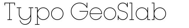 Typo GeoSlab