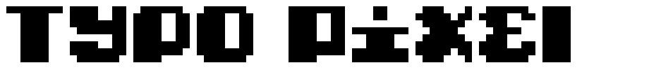 Typo Pixel font