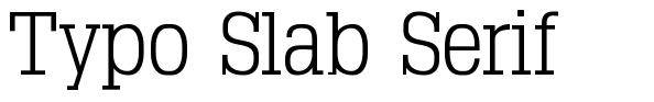 Typo Slab Serif font