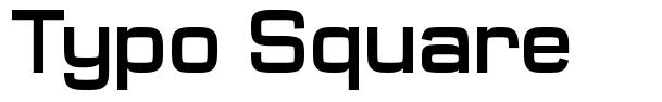 Typo Square schriftart