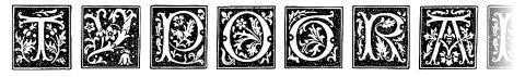 Typographer Woodcut Initials One