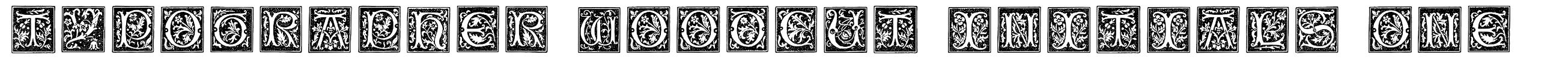 Typographer Woodcut Initials One