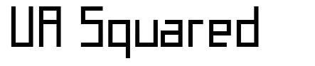 UA Squared font