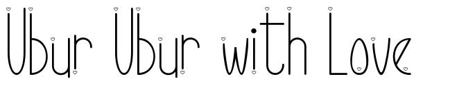 Ubur Ubur with Love schriftart