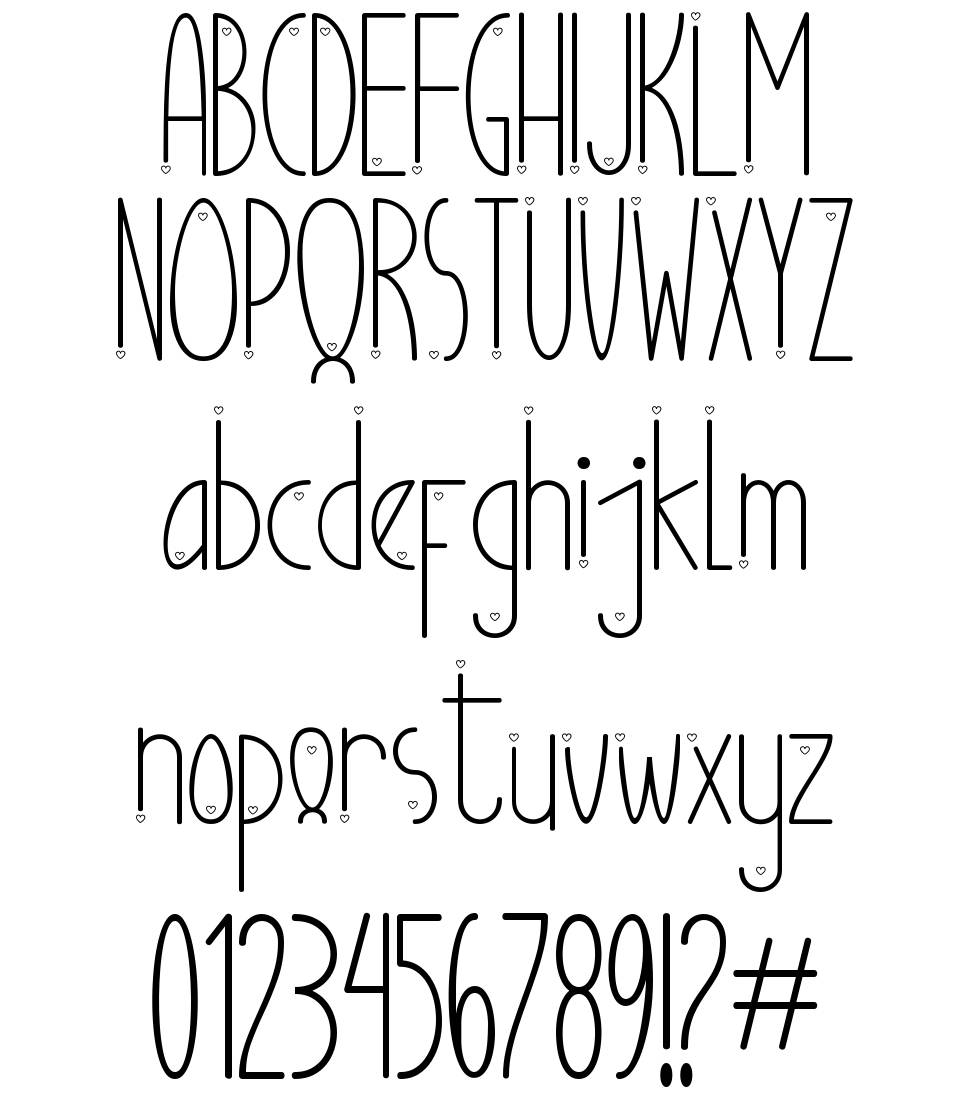 Ubur Ubur with Love font