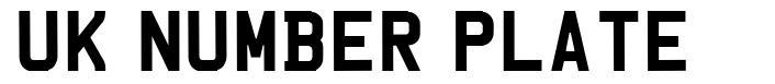 UK Number Plate font