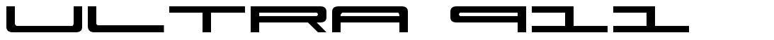 Ultra 911 font