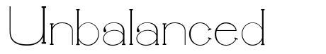 Unbalanced font