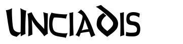 UnciaDis шрифт