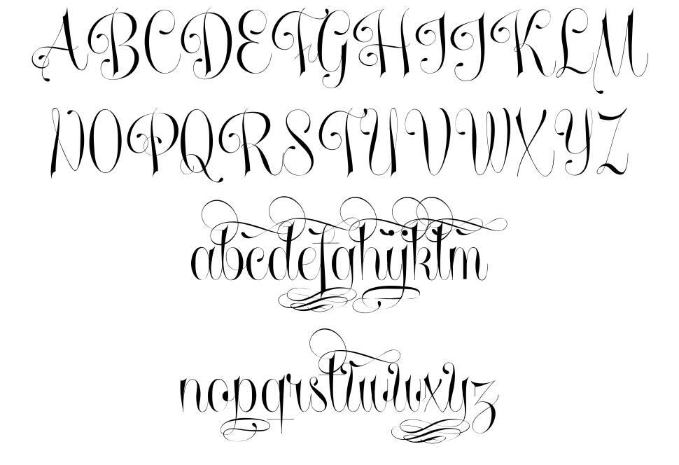 Undergone font
