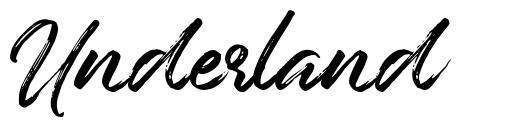 Underland шрифт