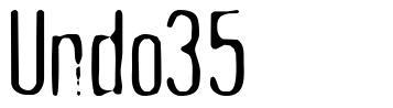 Undo35 font