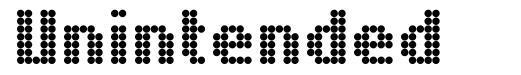 Unintended font