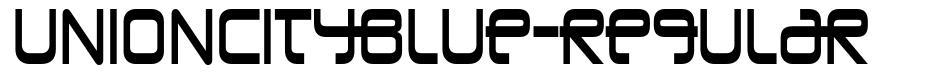 UnionCityBlue-Regular font