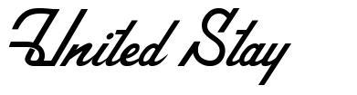 United Stay font