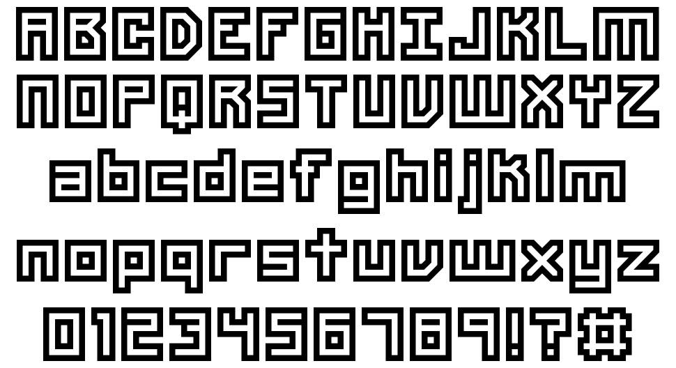Unlearned Bitmap font