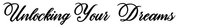 Unlocking Your Dreams font