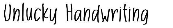 Unlucky Handwriting font
