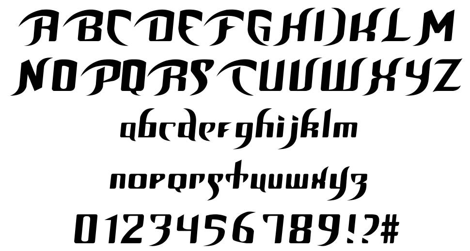Unofficial BoP Font шрифт