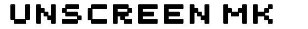 Unscreen MK font