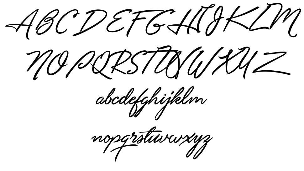 Unthrift font