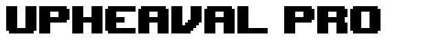 Upheaval Pro font