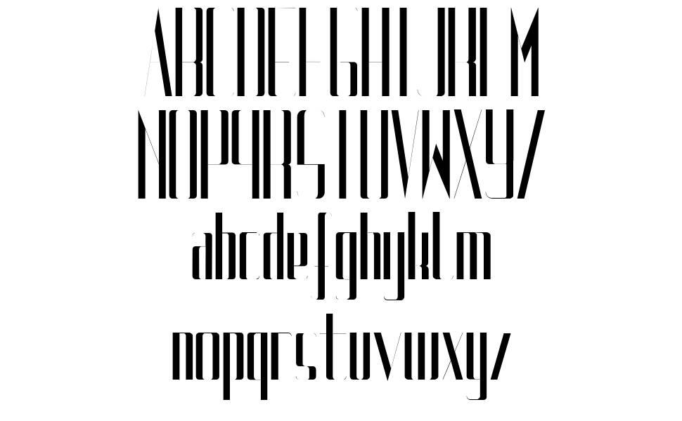 Uptight font