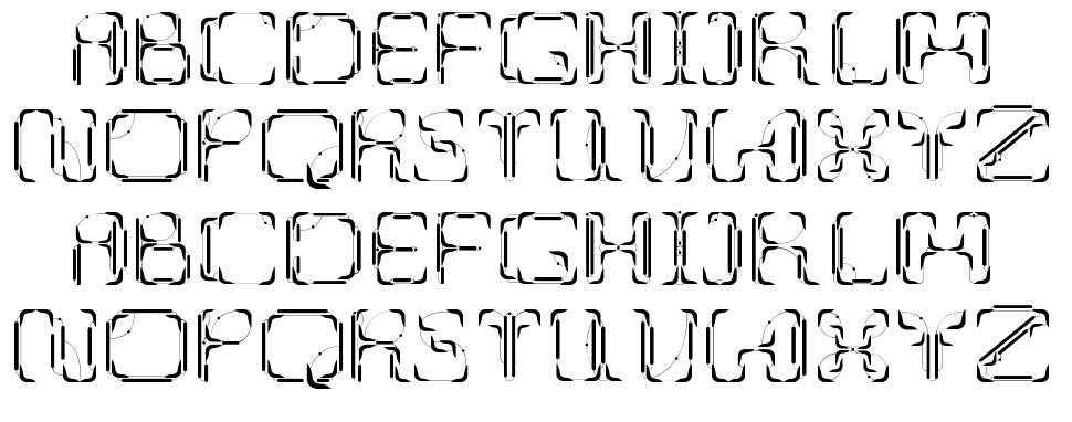 UpUp DownDown шрифт